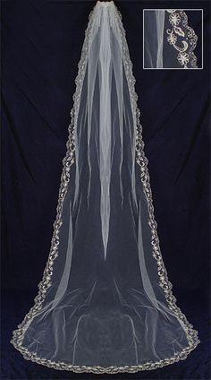 AA Bridal Designer Veil 99363