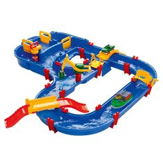 The Aquaplay MegaBridge Water Playset is a water canal system that keeps your children occupied for hours of playtime fun. By turning the paddle, the water will be set into motion in the canals, creating a playful way to educate how water moves. Sand And Water Table, Water Tables, Water Toys, Sports Toys, Toys Online, Activity Games, Plein Air, Baby Gear, Autos