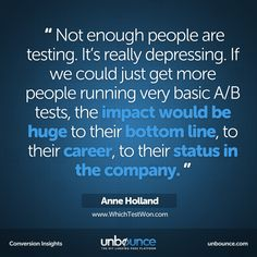 This week's #conversion insight from Anne Holland, founder of WhichTestWon. Click to read more on what Anne has to say.