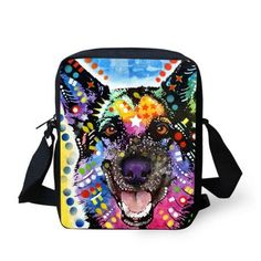 New Brand Designer Women Messenger Bags Pet Dog Printing Shoulder Bag Girls Cross Body Bag Pug Bulldog Messenger-Bag for Woman