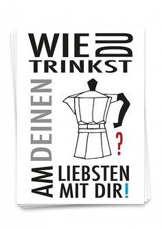 Postkarten online kaufen ♥ | Ulrike Wathling | Ulrike Wathling Atari Logo, Poster, Logos, Water Colors, Drawings, Sticker, Drinking, Gifts, Kaffee