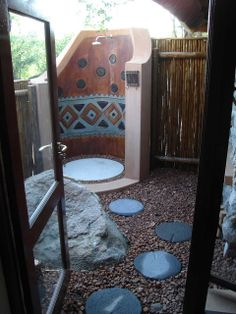 Decorated Outside shower House Property, Property For Sale, Tubs, Stepping Stones, Showers, Interior Decorating, Interiors, Outdoor Decor, Home Decor