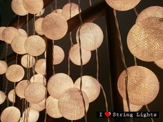 35 White Cotton Ball Set String Lights For by LoveStringLights 7059dc624e387
