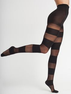 Sheer Luxe Solid Stripe Pantyhose | Shop American Apparel