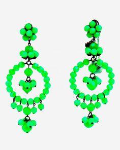 Orecchini Mercantia grappolo verde. www.caterinaformentini.it