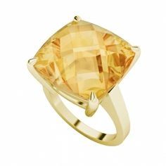 Elegant and classic, yet modern, this citrine yellow gold ring ring can be worn day or night. The perfect accessory for any outfit! Visit www.hardtofind.com.au #bling #jewel #gemstone