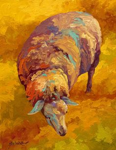 Sheepish Painting by Marion Rose - Sheepish Fine Art Prints and Posters for Sale