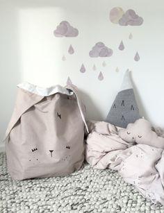 Lieve opbergzak 'cute bunny'