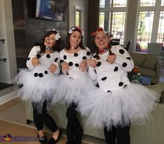 Crystal: Crystal, Shelby, Laura as Dalmations, Alicia - Cruella Deville.. Photo 2 of 3. Teacher Halloween Costumes Group, 3 People Halloween Costumes, Book Day Costumes, Book Week Costume, Scary Costumes, Halloween Costume Contest, Disney Costumes, Costume Ideas, Costumes For 3 People