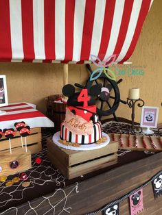 Pirate Mickey Mouse Birthday Party Ideas!  See more party ideas at CatchMyParty.com!