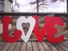 Valentine's Day LOVE Letters4 Piece yard art by LeeMissyYardArt