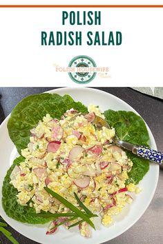 This Polish Radish Salad also has cottage cheese, so perhaps we should call it a radish and cottage cheese salad or sałatka z rzodkiewek i serka wiejskiego. Polish Radish Salad – light, healthy salad with a lovely crunch! Health Benefits Of Radishes, Hotel Breakfast Buffet, Cottage Cheese Salad, Radish Salad, Polish Recipes, Healthy Salads, Great Recipes, Salad Recipes, Polish Easter