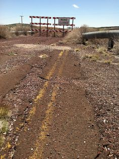 route 66 ash fork, az | Route 66, Ash Fork, AZ much of the road is in disrepair.