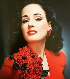 Image result for dita von teese  red gloves