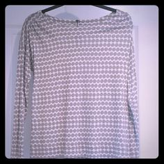 Loft top Cute dot pattern with zipper and pull detail in back. Rayon and tencel. Excellent condition. LOFT Tops Tees - Long Sleeve