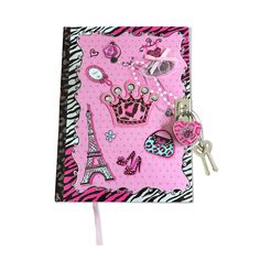 This diva diary with lock and key has 300 lined pages where she can write her secrets and lock it to keep it safe.