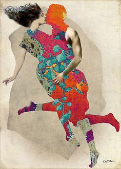 Love is a Tango by Catrin Welz-Stein in Surreal on .the art of catrin welz-stein I love this Collage Kunst, Mode Collage, Art Du Collage, Mixed Media Collage, Art And Illustration, Illustrations, Art Actuel, Tango Art, Art Du Monde