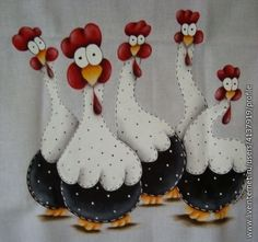 Art and crafts for kids – Her Crochet Art and crafts for kids – Her Crochet Felt Crafts, Diy And Crafts, Crafts For Kids, Arts And Crafts, Chicken Crafts, Chicken Art, Applique Patterns, Applique Designs, Tole Painting