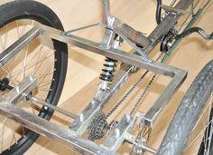 Tricycle Bike, Trike Bicycle, Cargo Bike, Cool Bicycles, Cool Bikes, Three Wheel Bicycle, Homemade Go Kart, Bike Cart, Timberwolf