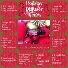 Holiday Joy Diffuser Recipes