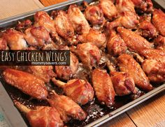 Easy Marinated Chicken Wings Recipe | Mommysavers.com