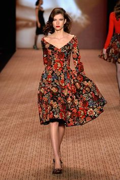 Modern retro repro style Beautiful floral dress