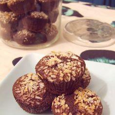 Cakes au chocolat et noix de coco