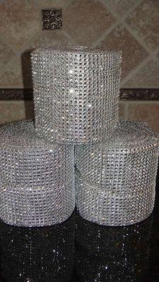 1-30 Ft Long Silver Diamond Mesh Rolls $36