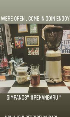 #manualbrew #coffee #grinder #hario #v60 #indonesia #booth #kiosk #cool