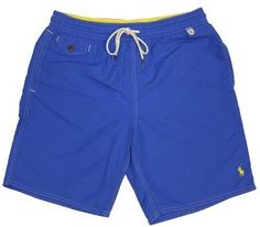 Polo Ralph Lauren Men's Pony Swimwear Trunks-Blue-2XL