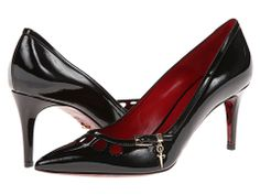 Cunningly cloak-and-dagger. Create a captivating caper no one will ever forget in this internationally intriguing Cesare Paciotti shoe. Cloak And Dagger, Pumps, Heels, Black Print, Womens Fashion, Fashion Trends, Forget, Shoe, Create