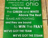Ohio University fight song subway art.  LOVE it!