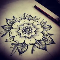 Simple wee flower sketch for a client                                                                                                                                                                                  More
