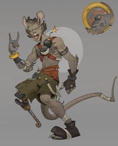 Junkrat Skins, Overwatch Skin Concepts, Junkrat And Roadhog, Fandoms, Fictional Characters, Art, Art Background, Kunst, Performing Arts