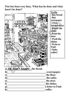 Present Perfect worksheet Esl, Best Sheets, Verb Tenses, Grammar Worksheets, Sentences, Presents, Chart, Virgin Mary, Frases