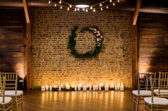 exposed brick. candles. wood beams. industrial chic.