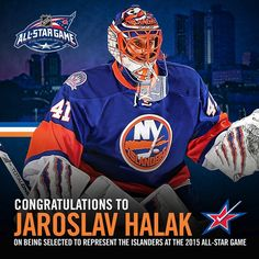 """BREAKING NEWS: Jaroslav Halak has been selected to the #NHLAllStar Game! #Isles"""