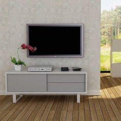 meuble tv gris/blanc