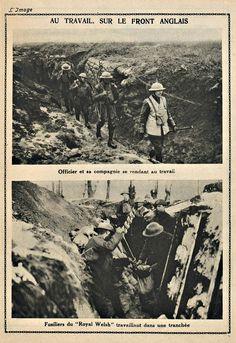 """WWI, Feb 1918; """"On the Job, British Front"""" - L'Image de la guerre"""