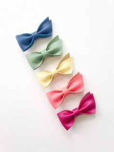 Leather Hair Bow Clips by Butterbean Leather Co