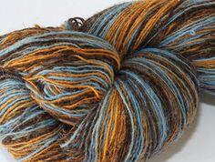 Crochet Gradient Yarn Laceweight Art Wool Yarn for Knitting KAUNI Estonian Artistic Wool Yarn Blue Denim 81