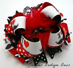 Handmade Hair Bow Boutique Girls TBB Bow  by JustinesBoutiqueBows