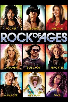 "Rock of Ages (DVD + Ultraviolet Digital Copy) - ""Rock of Ages"" tells the story of small town girl Sherrie and city boy Drew, who meet on the Sunset Strip while pursuing their Hollywood dreams. Their rock 'n' roll romance is told through the heart-pou Tom Cruise, Night Ranger, Russell Brand, Hey Man, Rock Of Ages, Thing 1, Small Town Girl, Catherine Zeta Jones, Rockn Roll"