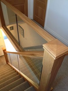Luxury Glass Stairs Ideas 39 - house and flat decorations Open Stairs, Glass Stairs, Loft Stairs, House Stairs, Basement Stairs, Under Stairs, Home Stairs Design, Stair Railing Design, Railing Ideas