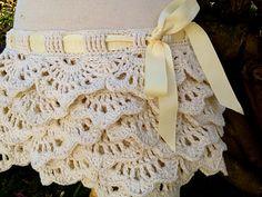 White Crochet Skirt