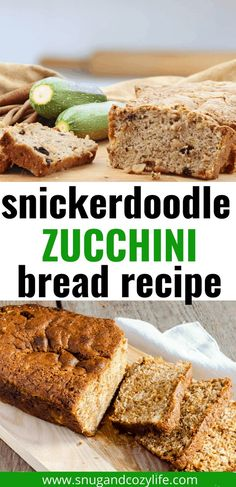 This easy snickerdoodle zucchini bread with coconut oil is the BEST use for extra zucchini ever! The Cinnamon and Sugar topping make it an extra special quick bread dessert or snack. #zucchinibread #snickerdoodle #snugandcozylife #coconutoilrecipes Healthy Desserts For Kids, Kid Desserts, Holiday Desserts, Dessert Recipes, Zuchinni Bread, Zucchini Bread Recipes, Banana Bread Recipes, Dessert Bread, Quick Bread