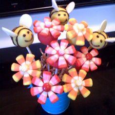 Spring Birthday Cake Pop Bouquet. By Susy Brar