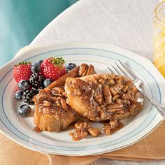 Praline-Pecan French Toast from Southern Living - use GF bread.  I make this for Christmas breakfast.  It's a family favorite.