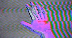 Low Resolution Animated GIF : Hand(s) † #gif #animatedgif #video #pixelated #trippy #tracers #lowresolution #lofi #hand #glitch #glitchy #loop #GraphicInterchangeFormat #VHS