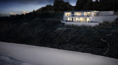 The Newton Residence: CGI depicting a stunning private residence perched on the Carbis Bay cliff, Cornwall.